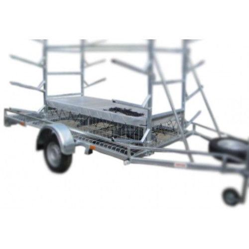 Steel wire mesh paddle cage for MASTER-TECH trailers