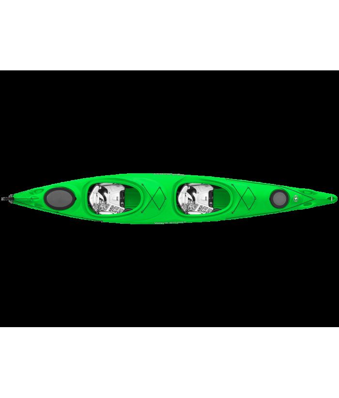 Tandem kayak WAVESPORT HORIZON w/rudder WHITE-OUT