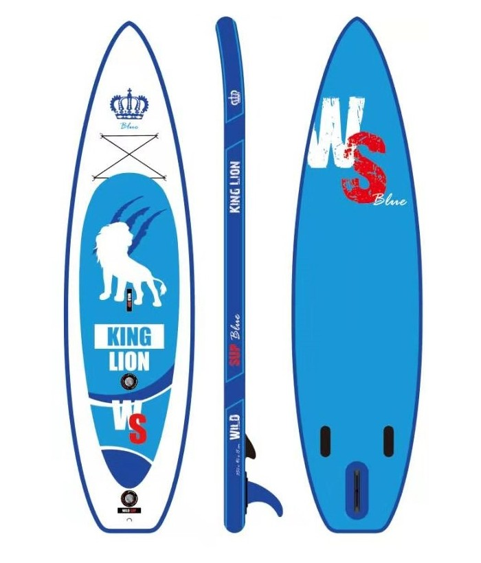 Inflatable SUP board set WILDSUP KING LION BLUE 11.5