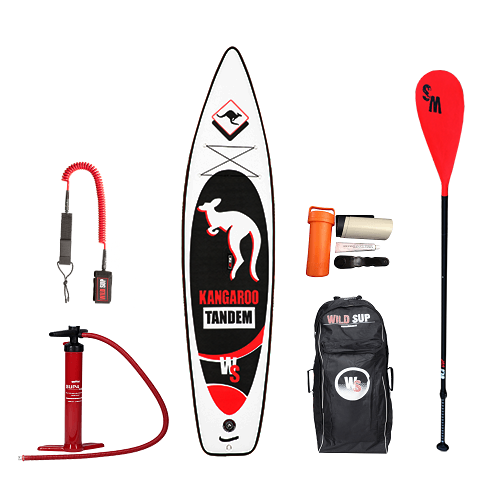 Inflatable SUP board set WILDSUP KANDAROO TANDEM 12.9