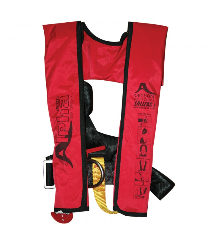Inflatable automatic buoyancy aid LALIZAS ALPHA 170N AUTO
