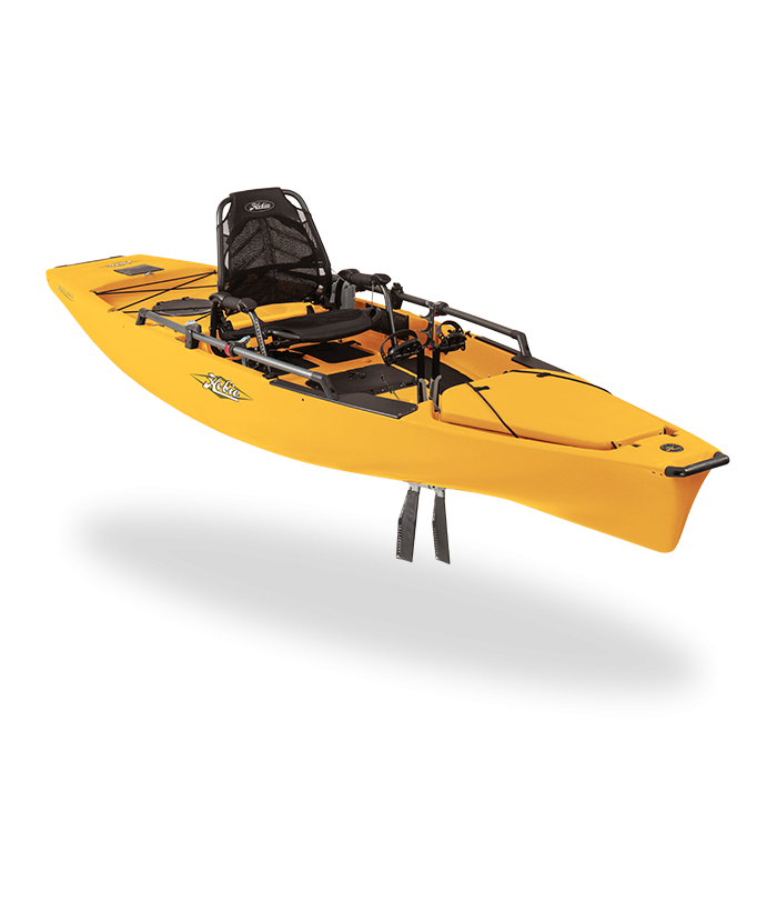 Solo fishing kayak HOBIE MIRAGE PRO ANGLER 14