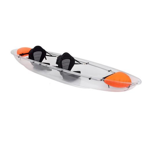 Clear tandem kayak CRYSTALL